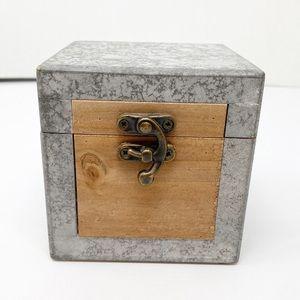 Hobby Lobby Accents - Hobby Lobby Silver Cube Storage Box Silver Brown
